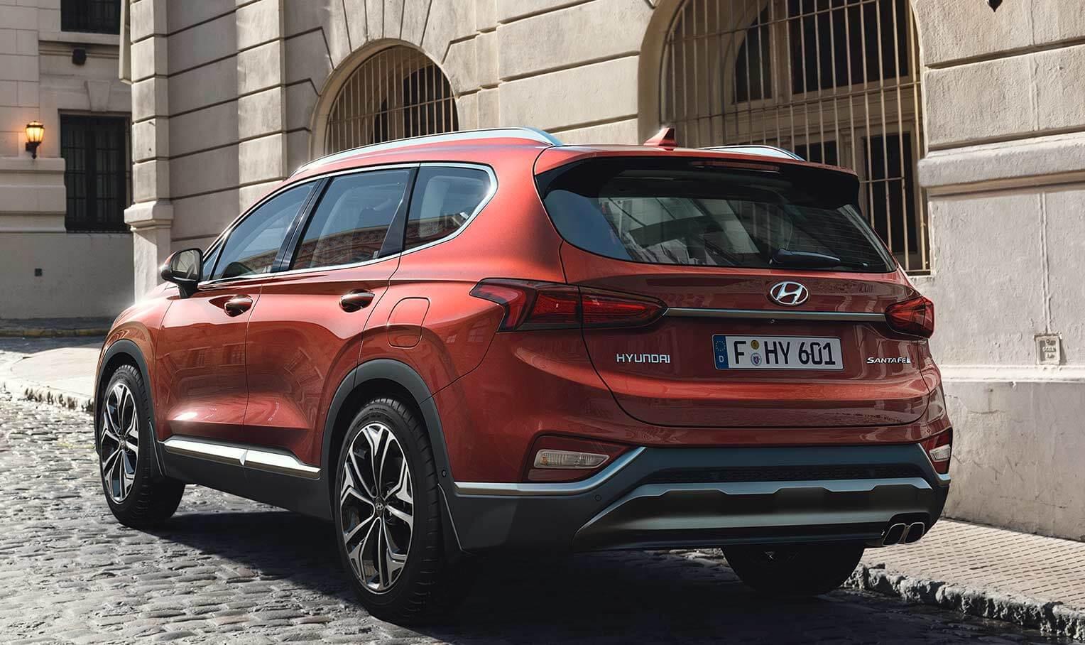 Hyundai Santa Fe 2018 trasera