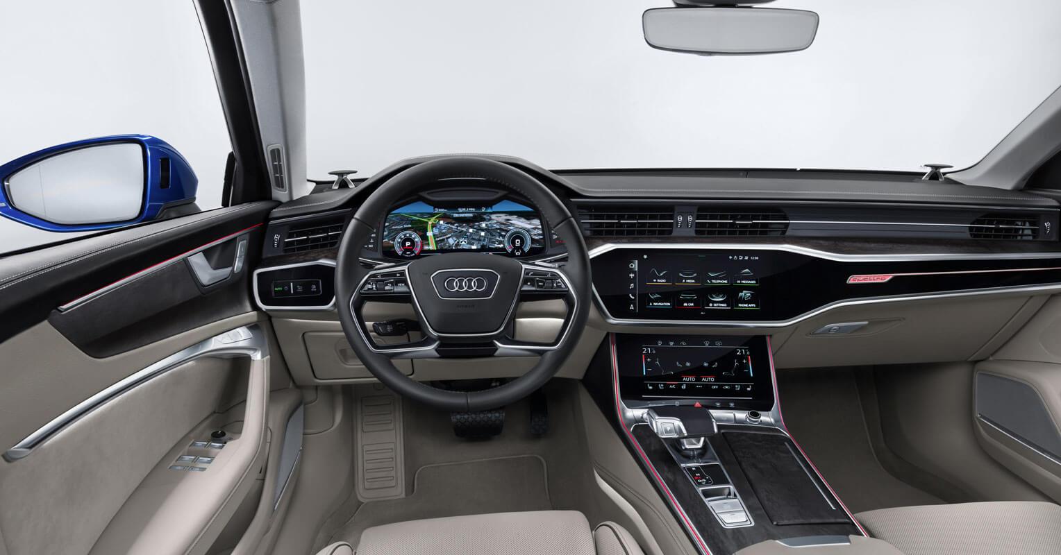 Audi A6 Avant 2018 azul