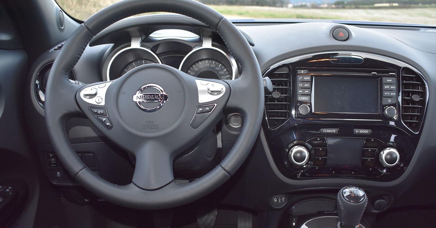 Interior del Nissan Juke