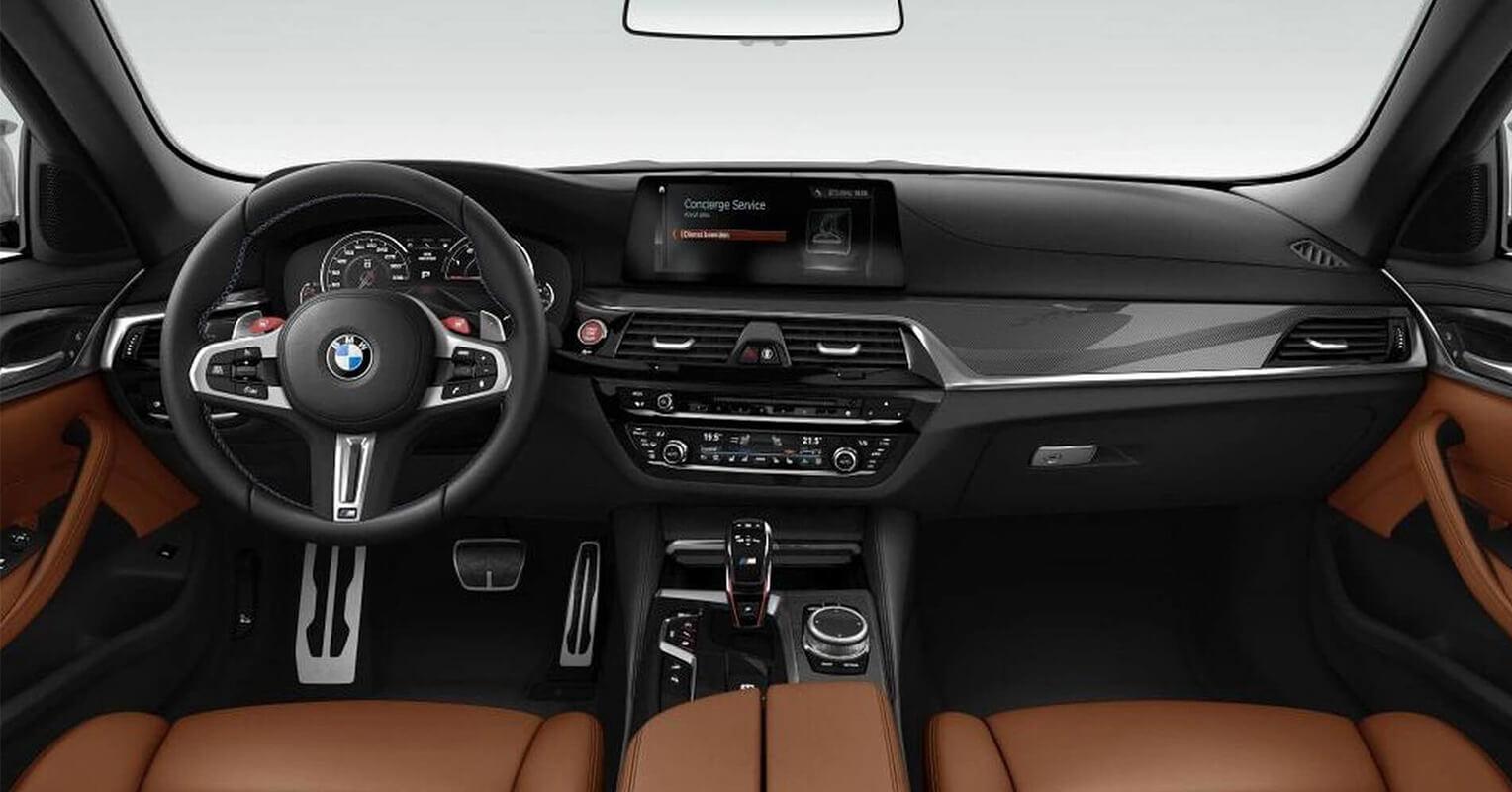 Interior del BMW M5 Competition 2018