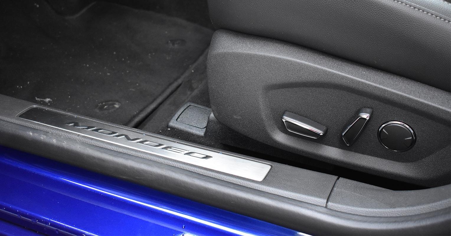Regulación eléctrica de los asientos del Ford Mondeo híbrido