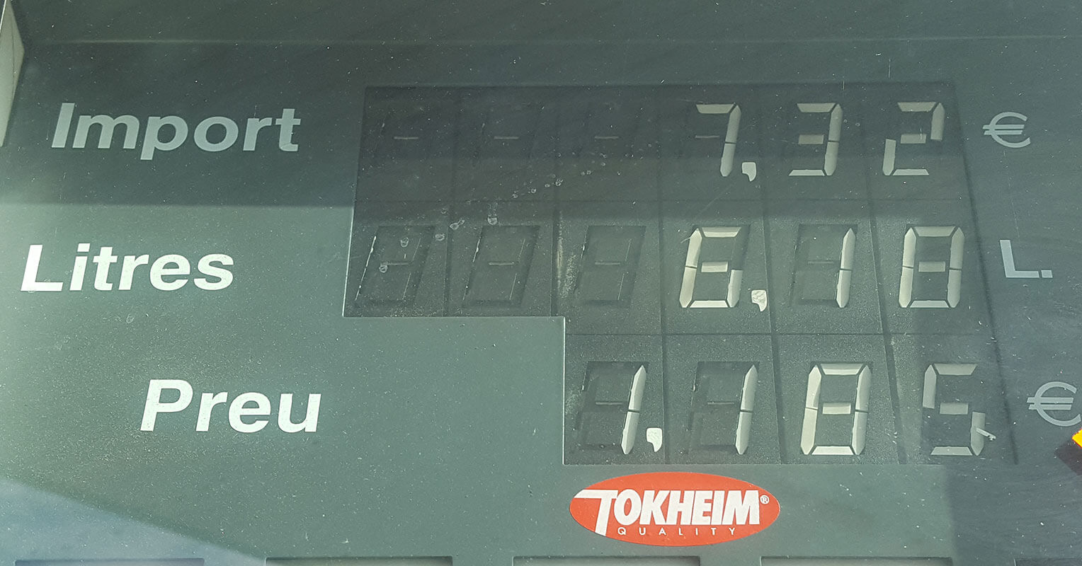 Surtidor de gasolina del Opel Grandland X