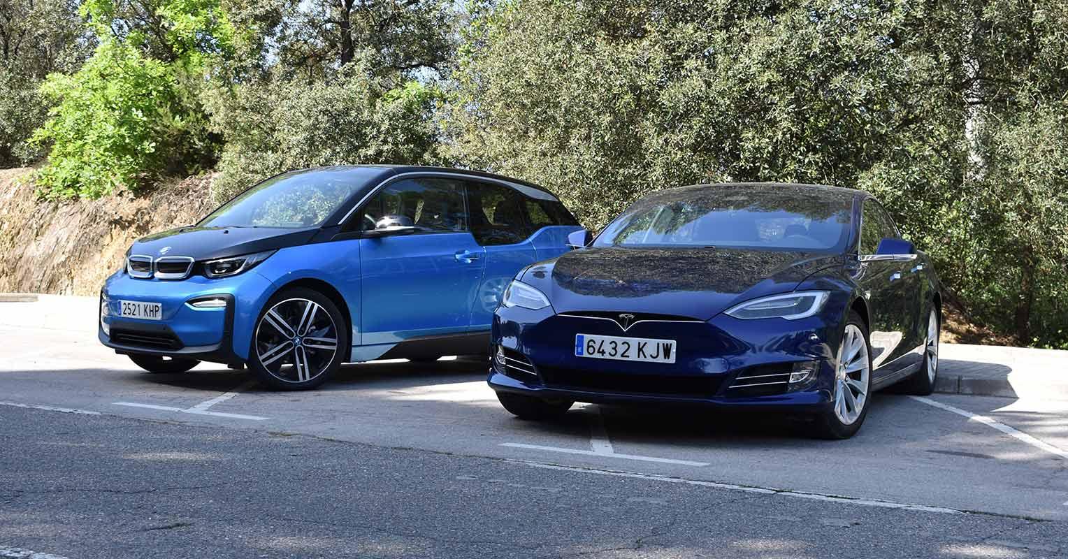 BMW i3 2018 y Tesla Model S 2018