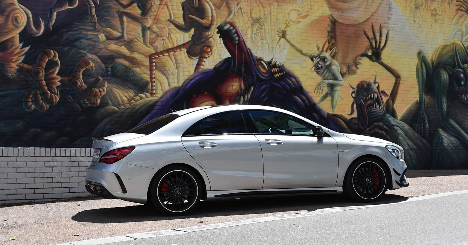 Lateral del Mercedes-AMG CLA 45