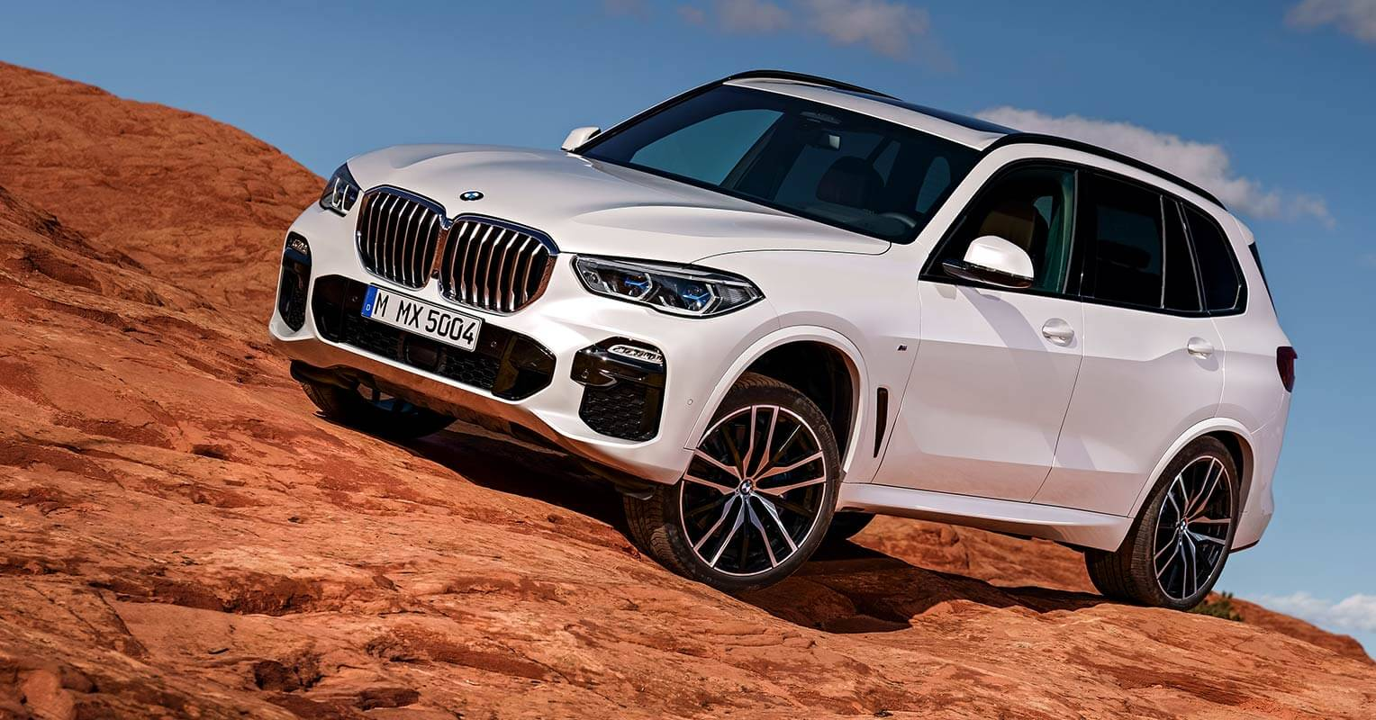 BMW X5 2018 offroad frontal