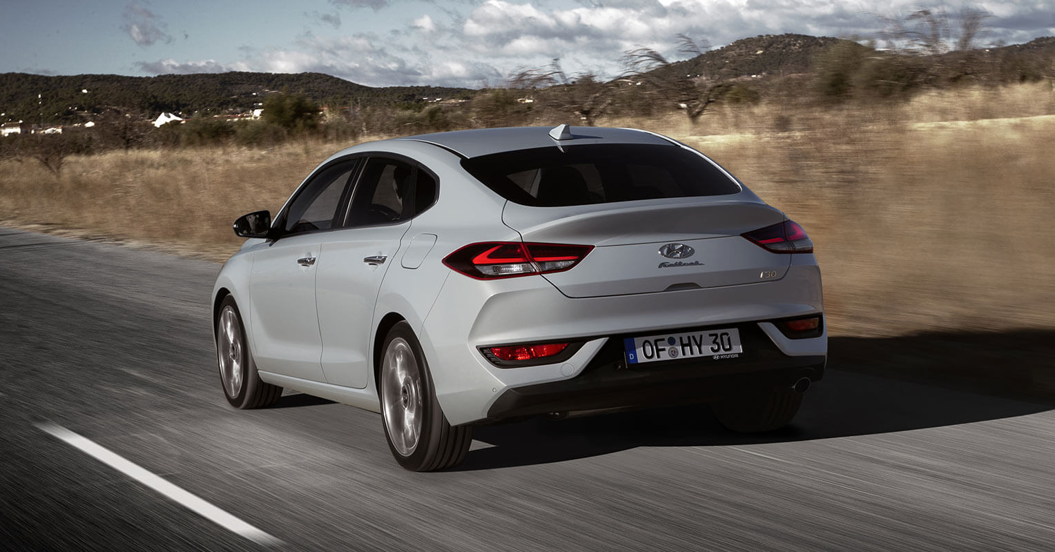 Trasera del Hyundai i30 Fastback 2018