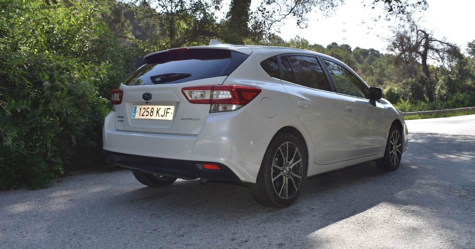 Trasera del Subaru Impreza 2018