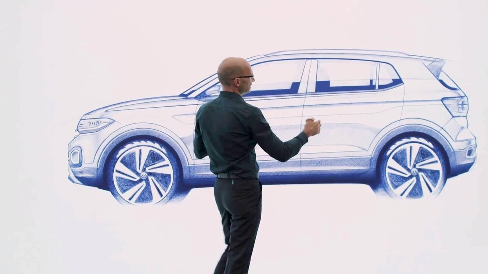 Boceto del Volkswagen T-Cross