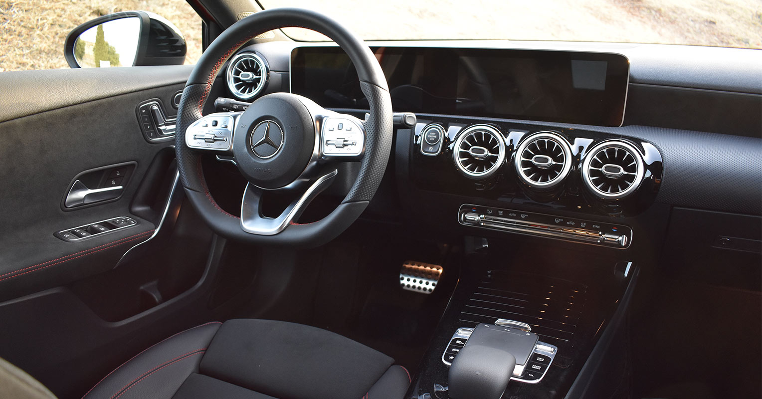 Interior del Mercedes Clase A 2018