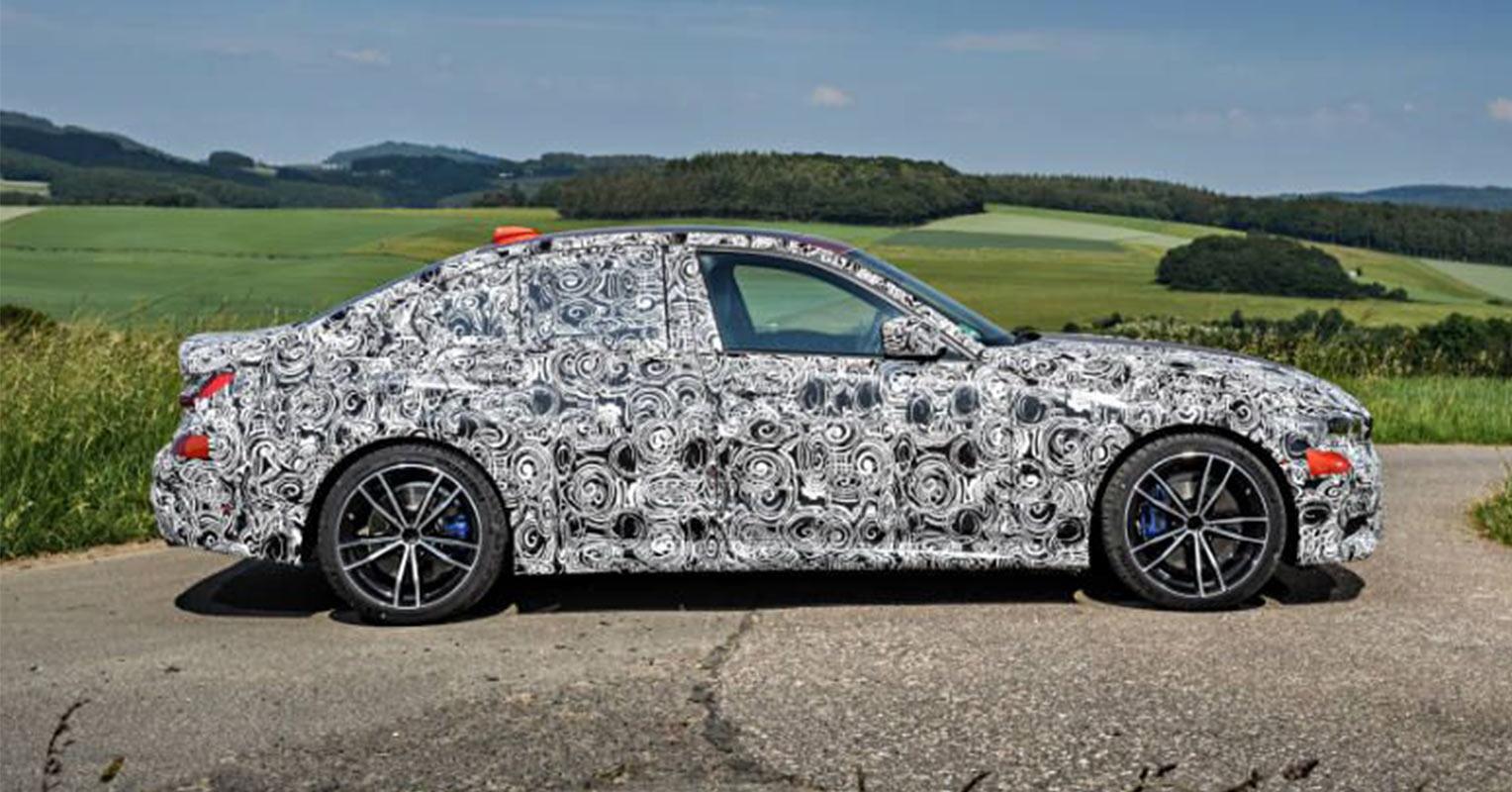 Lateral del BMW Serie 3 2019 camuflado
