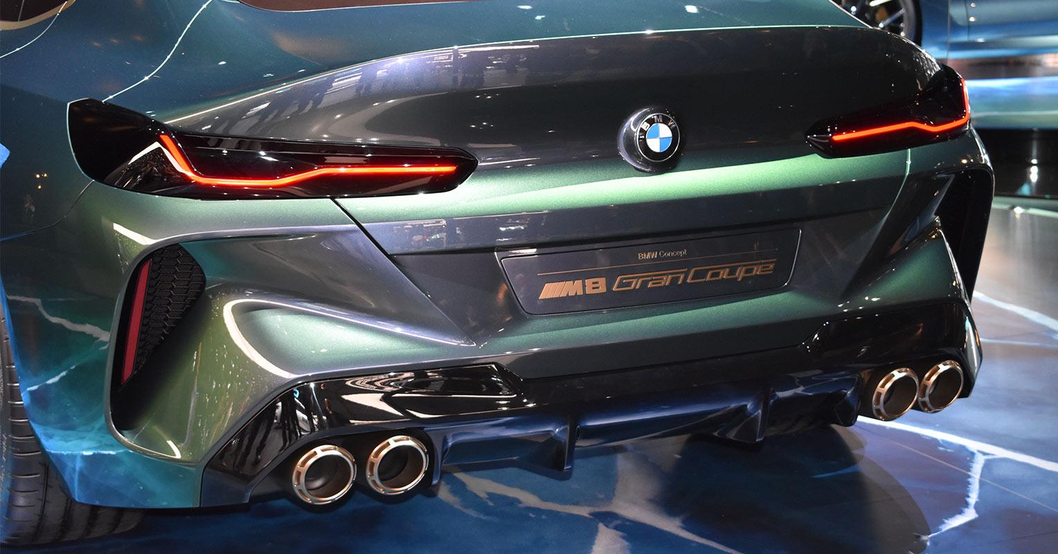 Trasera del BMW Serie 8 Gran Coupé Concept