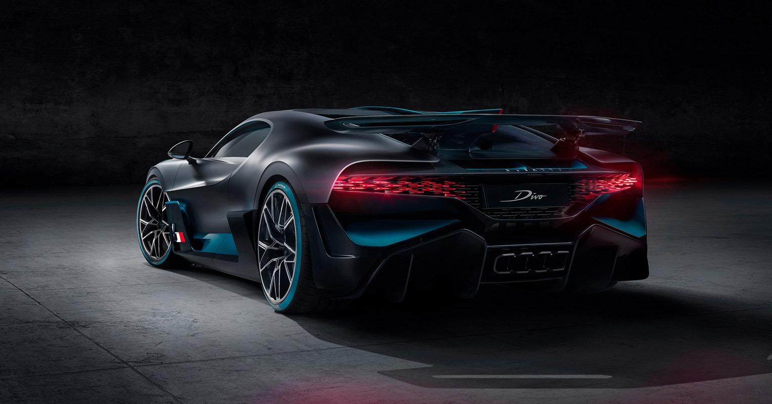 Trasera del Bugatti Divo