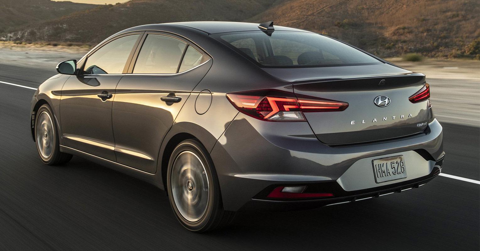 Trasera del Hyundai Elantra 2019
