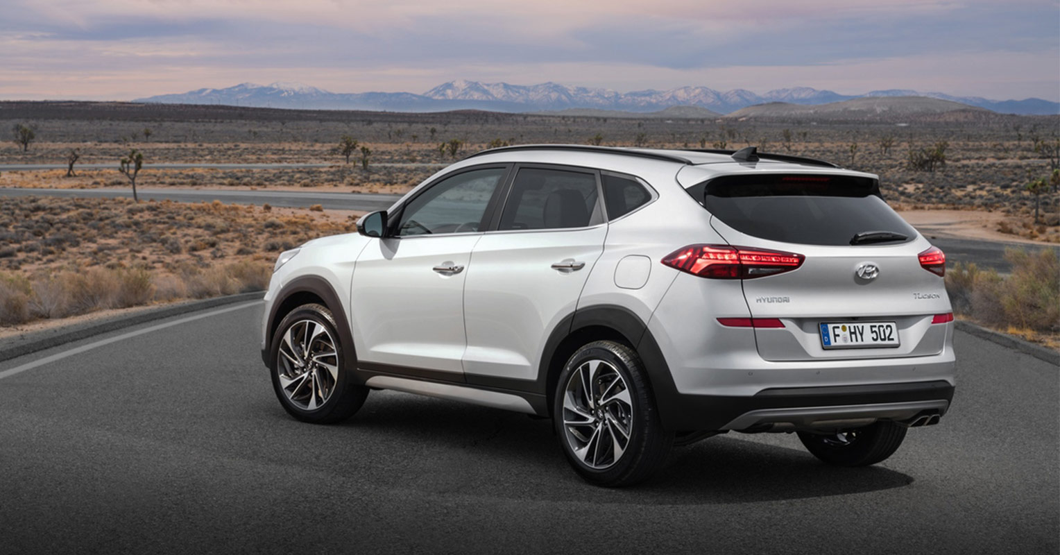 Trasera del Hyundai Tucson 2019