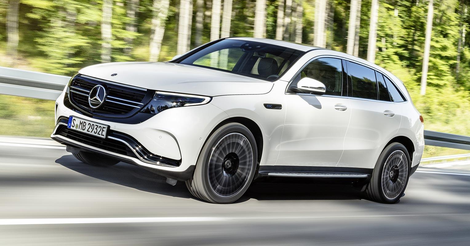 Frontal del Mercedes EQC