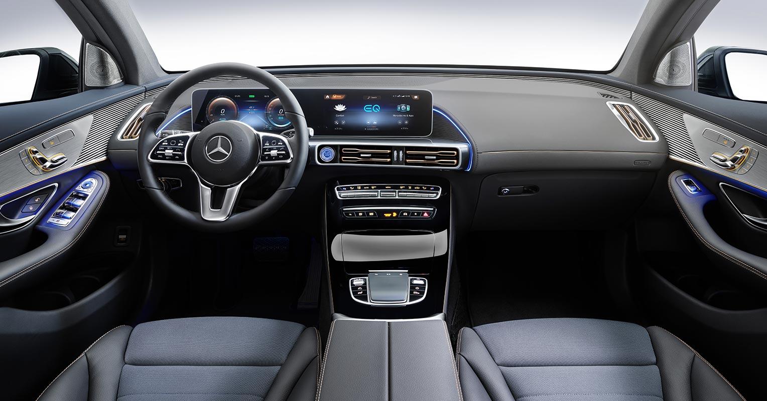 Interior del Mercedes EQC